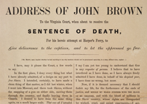 "John Brown, ""Address of John Brown to the Virginia Court..."" December 1859"
