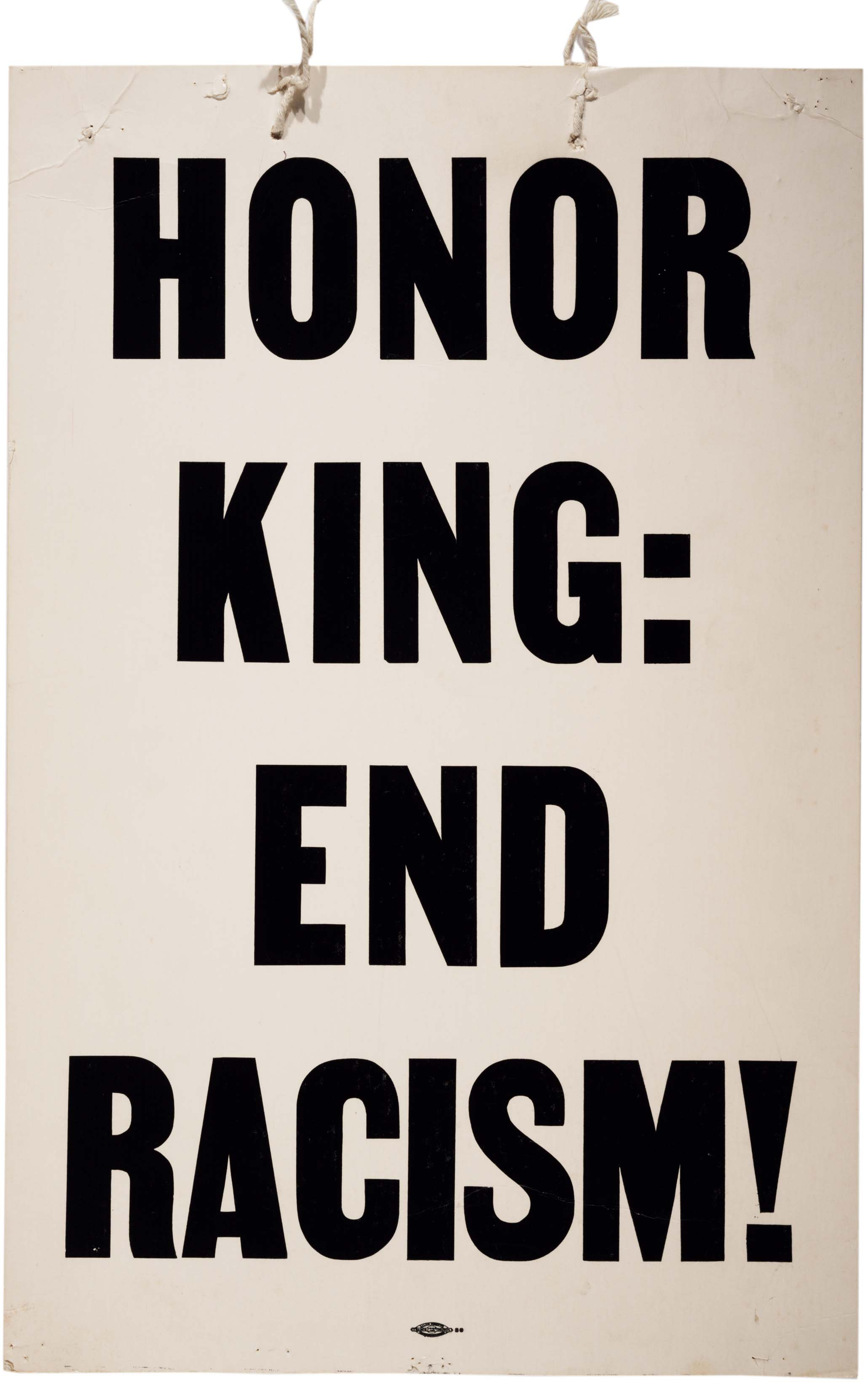Honor King: End Racism! broadside, April 8, 1968. (Gilder Lehrman Collection)