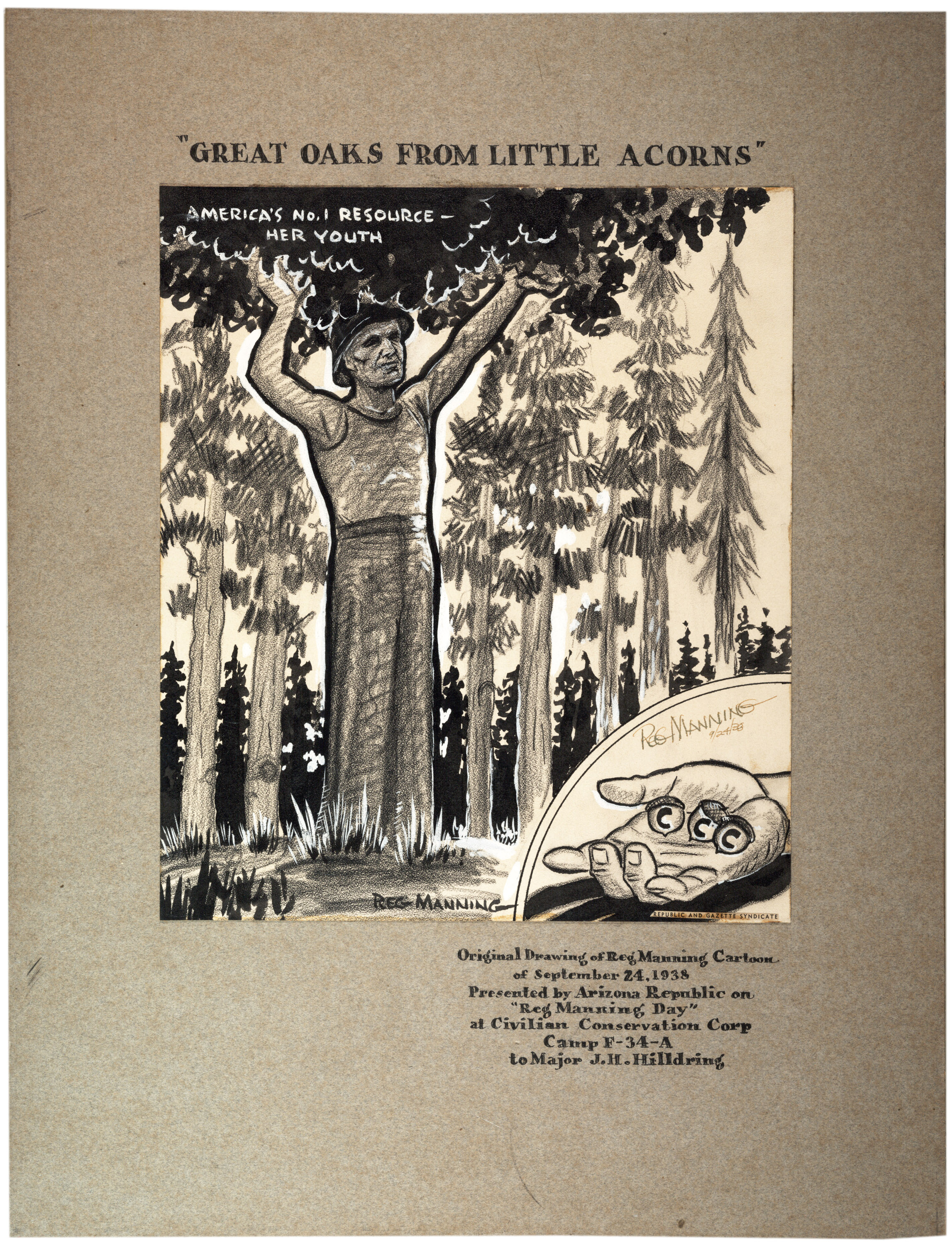 Enlistment poster for the Arizona Civilian Conservation Corps., September 24, 19