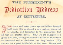 Abraham Lincoln, Gettysburg Address, November 19, 1863 (GLC06811)