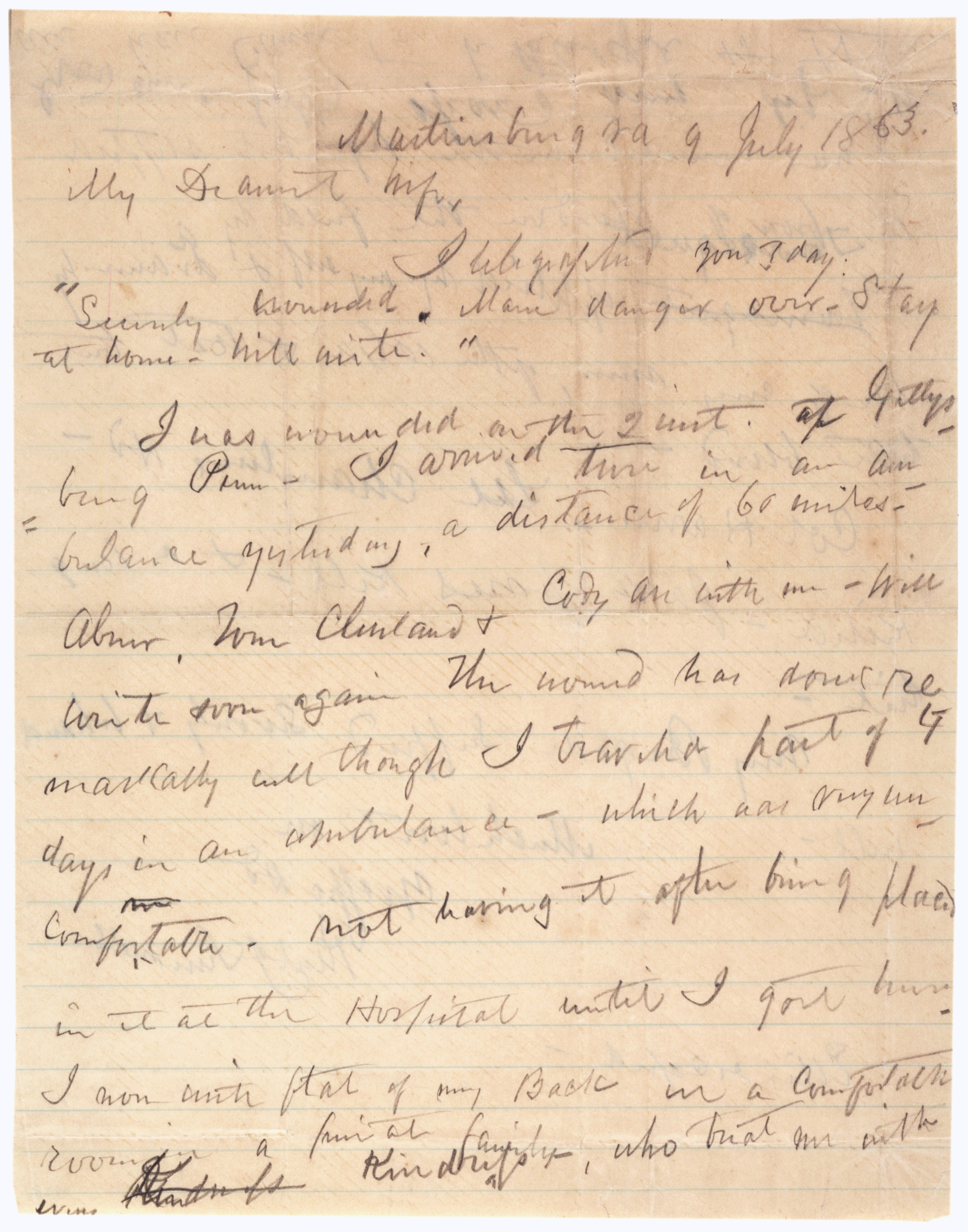 Paul Jones Semmes to Emily J. Semmes, July 9, 1863 (Gilder Lehrman Collection)