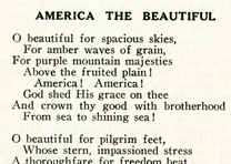 America the Beautiful, signed by author Katharine Lee Bates, ca. 1925. (GLC)