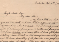 Frederick Douglass to Hugh Auld, October 4, 1857 (Gilder Lehrman Collection)