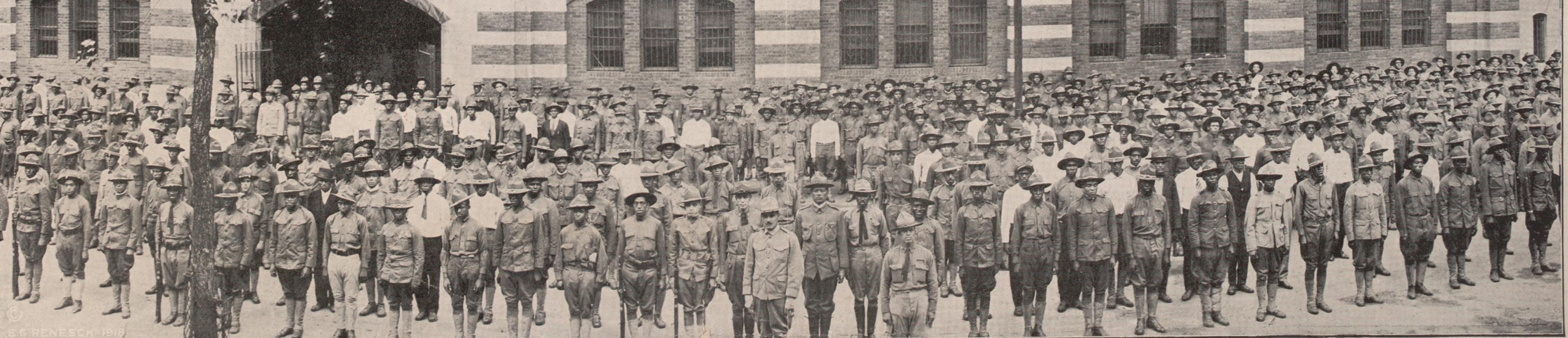 Eighth Illinois regiment in France, ca. 1918. (Gilder Lehrman Collection)