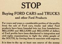 """Don't Buy A Ford Ever Again"" broadside, c. 1960. (GLC08259)"