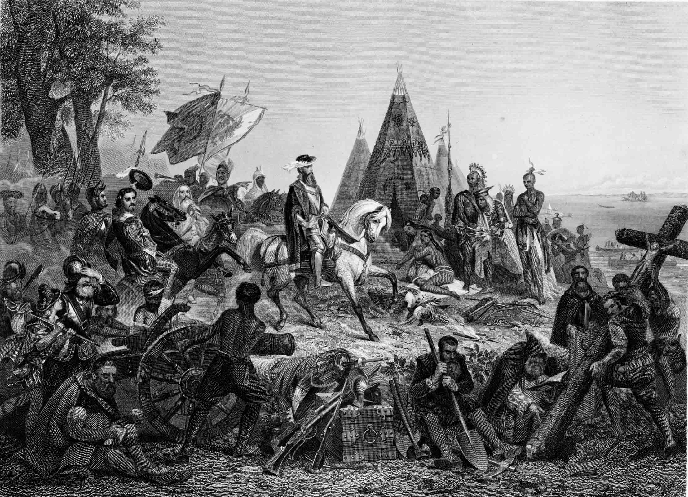 De Soto's Discovery of the Mississippi, 1858