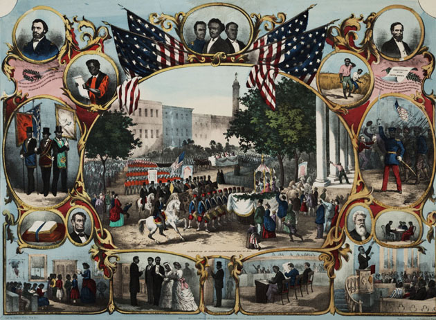 """The Fifteenth Amendment Celebrated, May 19th, 1870,"" published by Thomas Kelly, New York, 1870. (Private Collection)"