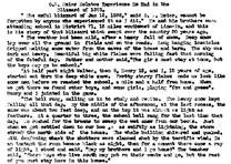 "Transcript of ""O. W. Meier Relates Experience He Had in the Blizzard of 1888"""