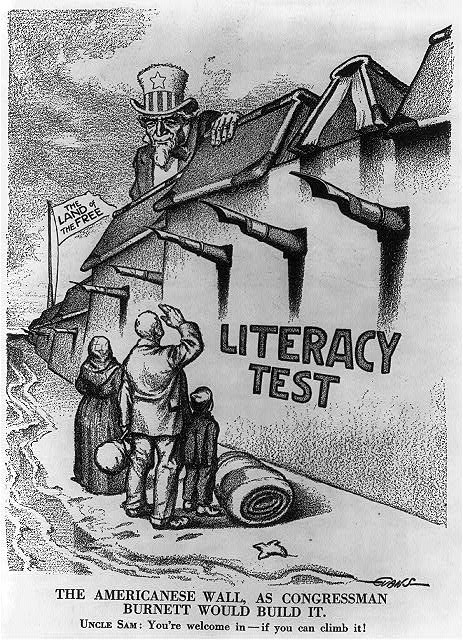 """The Americanese wall - as Congressman [John Lawson] Burnett would build it ,"" 1"