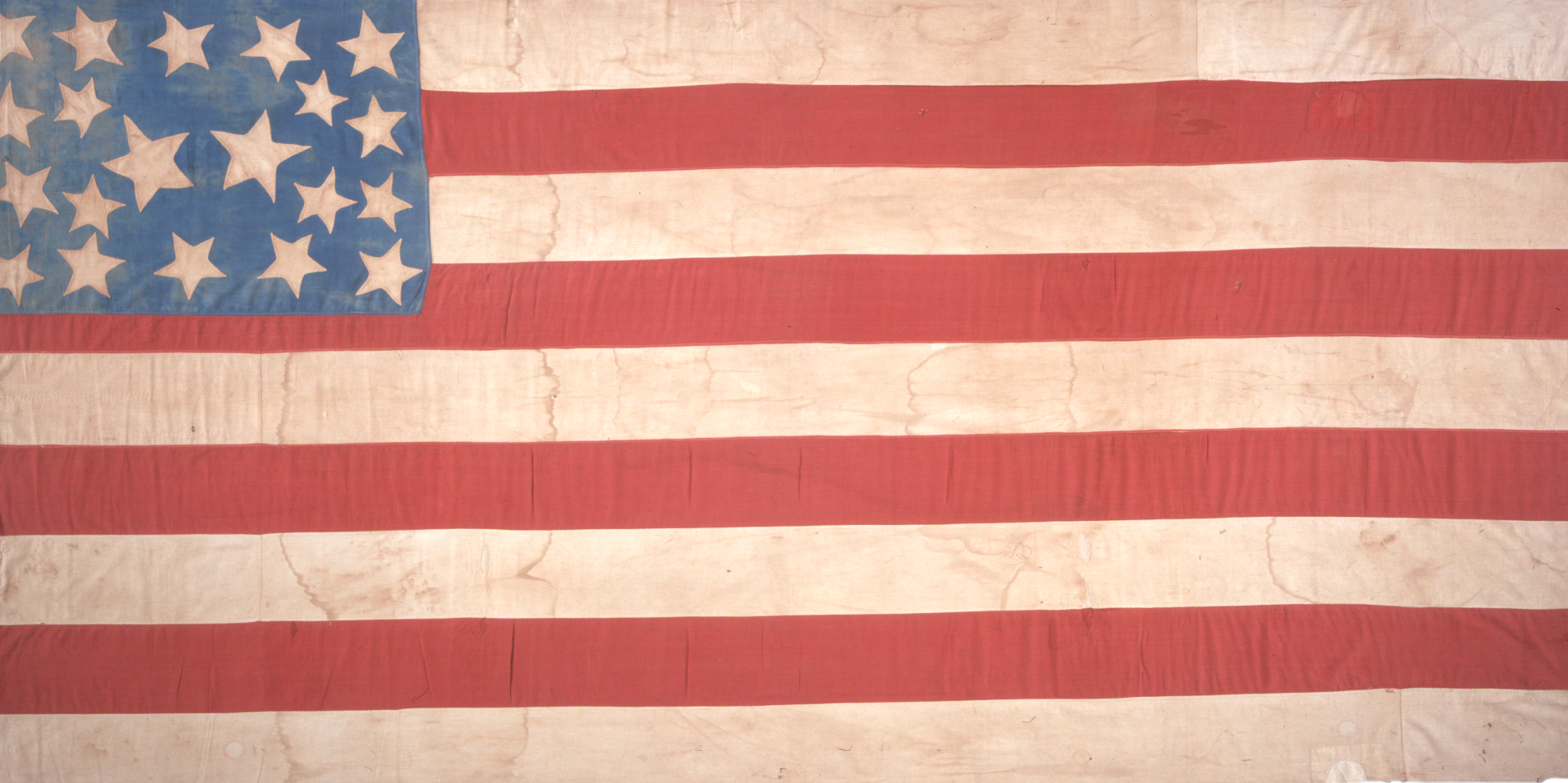 "Twenty Star American ""Abolitionist Flag"", ca. 1859 (Gilder Lehrman Institute)"