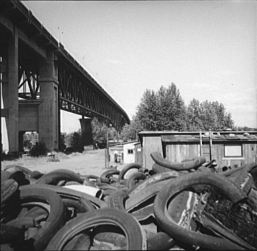 Hooverville in Portland, Oregon, photograph by Arthur Rothstein, July 1936. (Lib