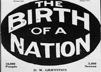 """Detail from a """"Birth of a Nation"""" poster, ca. 1940"""