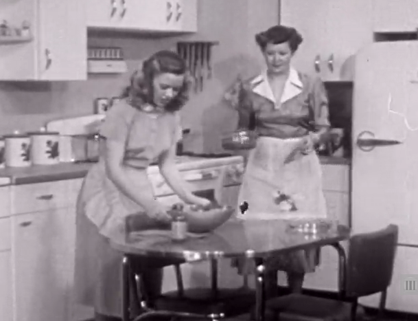 "Still from ""A Date with Your Family,"" a 1950 Encyclopedia Britannica instructional film"