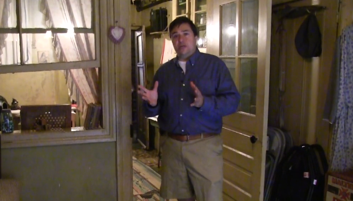 Professor Cannato leads a tour of the Tenement Museum
