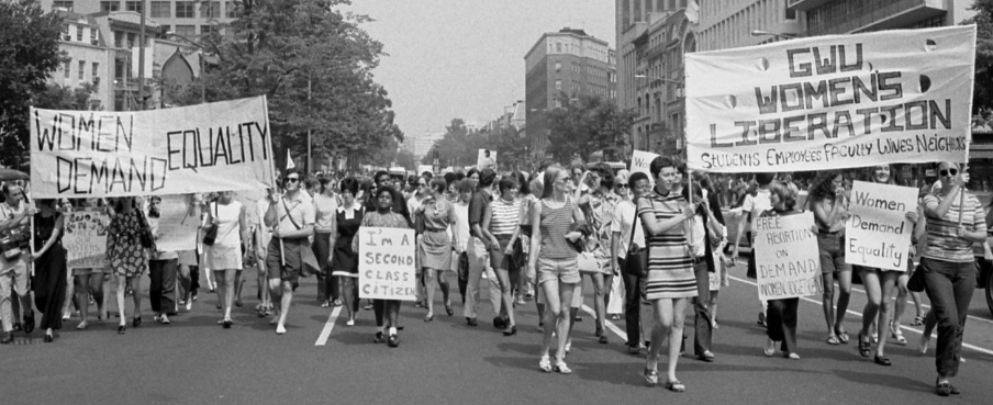 Women's Liberation March, Washington DC, 1970. (Library of Congress)