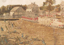 """The Battle of Lexington, April 19th, 1775,"" Plate 1, art by Ralph Earl, engrave"