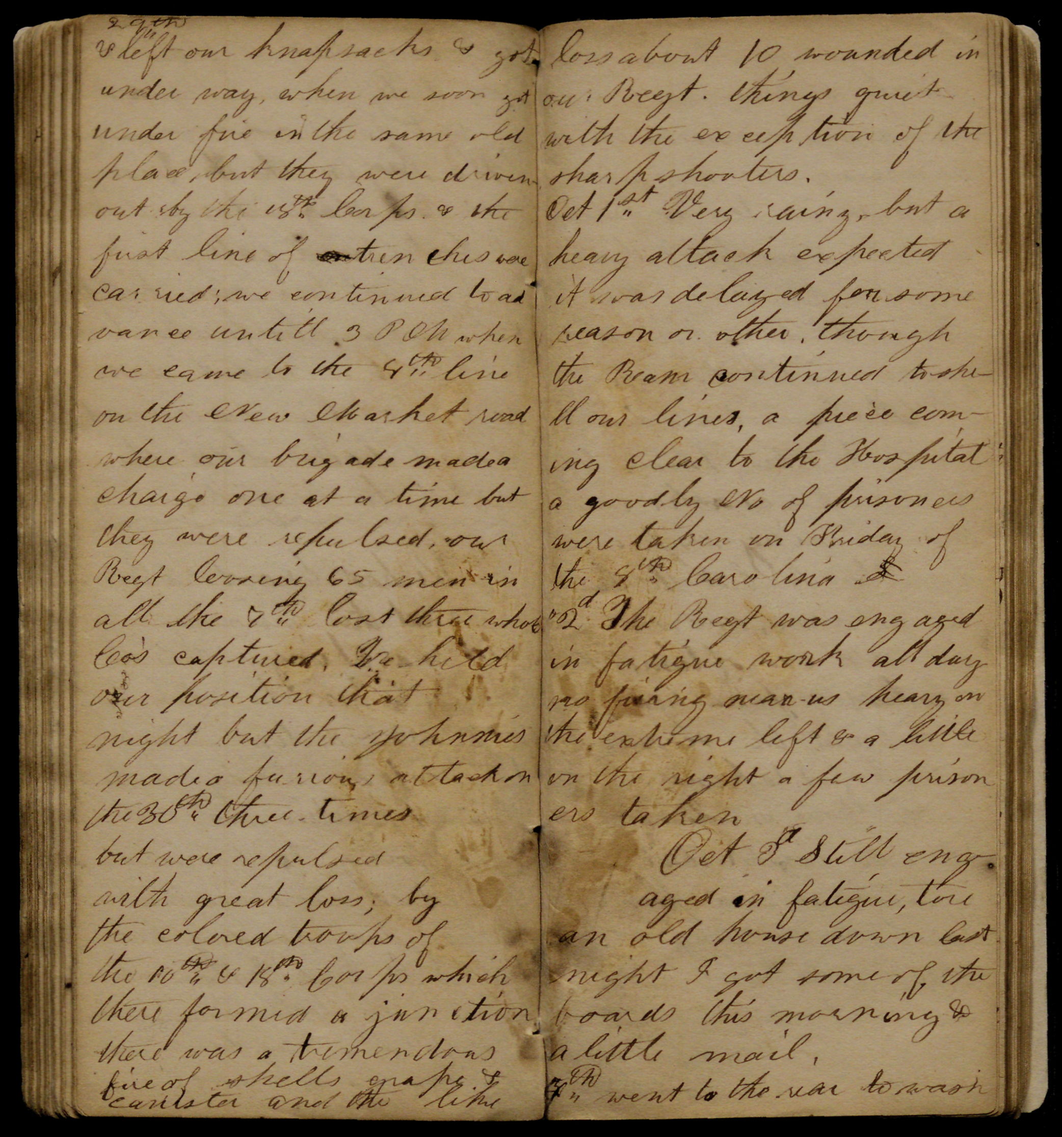 Diary of William Woodlin, an African American soldier in the 8th Regiment United States Colored Troops, Company G (Gilder Lehrman Collection)