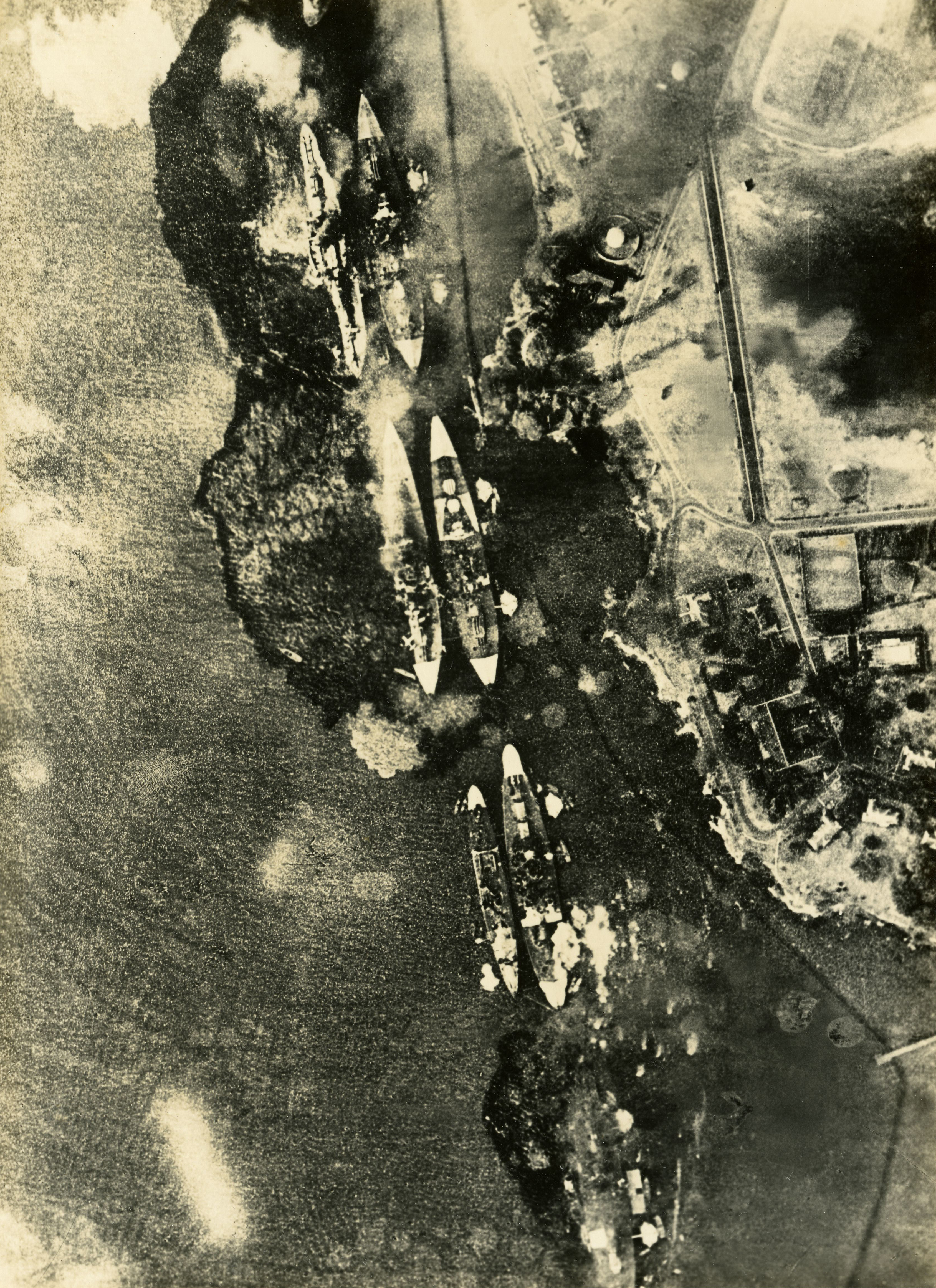 Japanese bombardment of Battleship Row, December 7, 1941 (Gilder Lehrman Col