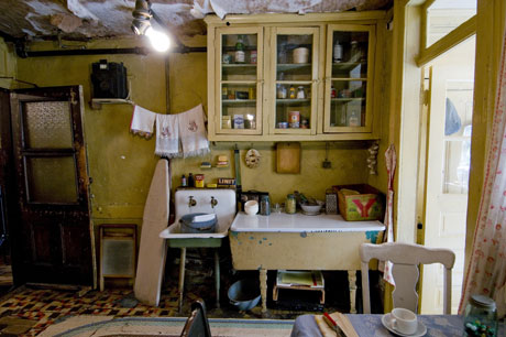 The restored Baldizzi family kitchen at 97 Orchard Street, as it would have look