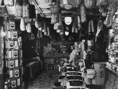 Store interior, Lower East Side, c. 1935-37. (Photograph by Arnold Eagle, Collec