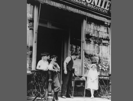 Sidewalk scene with unidentified children, Lower East Side, c. 1935-37. (Photogr