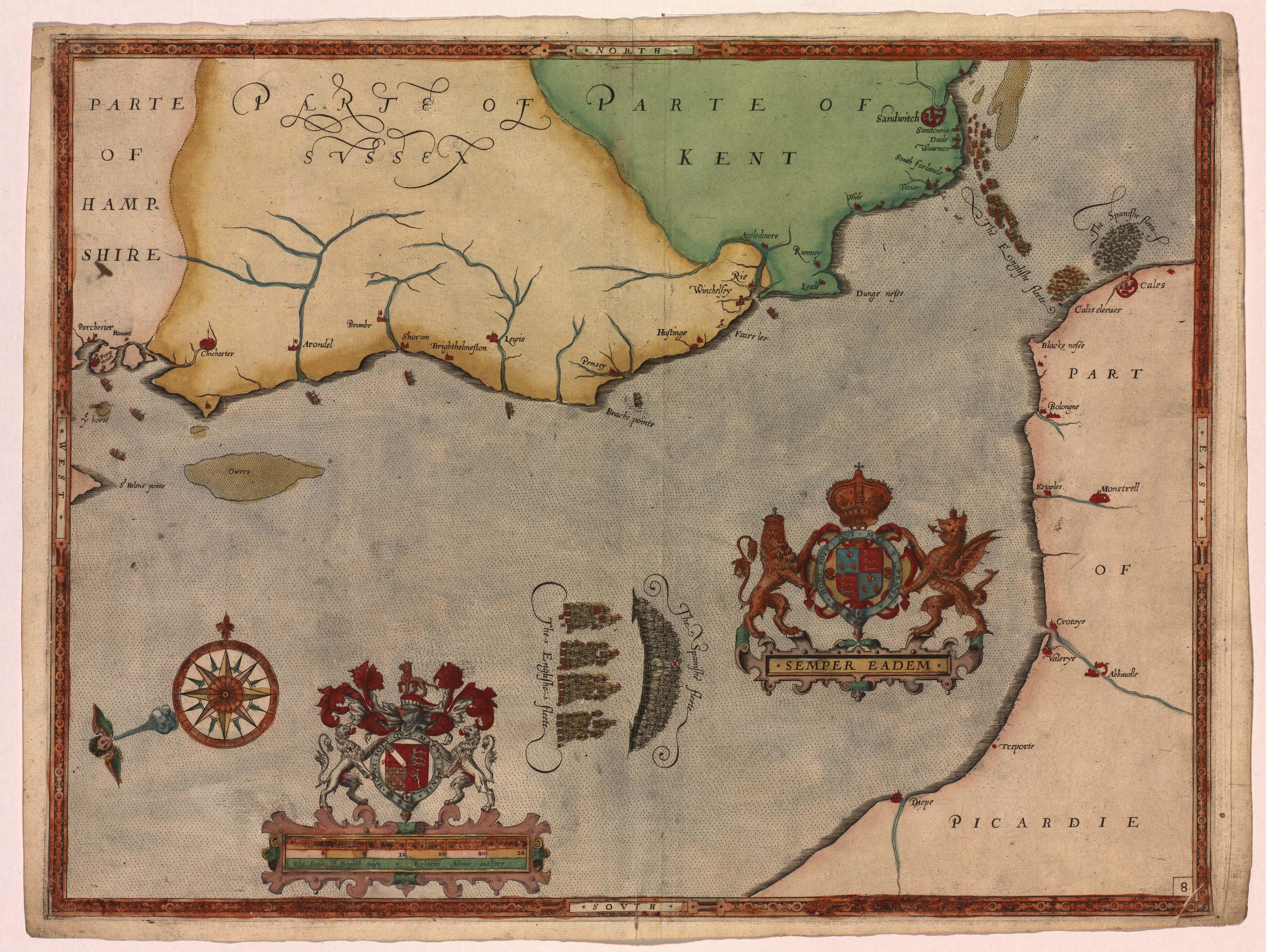 Expeditionis Hispanorum in Angliam, 1588, by Robert Adams (London, 1590). (LOC)