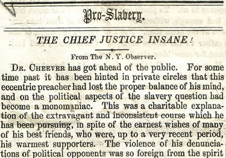 Newspaper attack on Justice Taney (Courtesy Dickinson College)