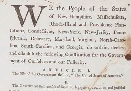 U.S. Constitution [Draft, August 1787]  (Gilder Lehrman Collection)