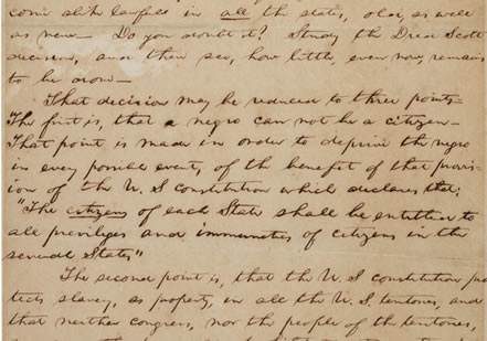 Lincoln's 'House Divided' Speech (Gilder Lehrman Collection, GLC 2533)