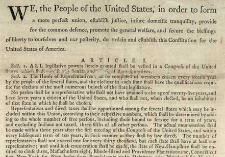 U.S. Constitution [September 17, 1787] (Gilder Lehrman Collection)