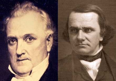James Buchanan (left) vs. Stephen Douglas (right) (Dickinson College and Library
