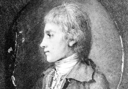 Photograph of a miniature portrait of Hamilton by an unknown artist  Dated Janua