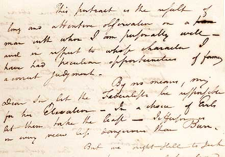 Letter to Harrison Gray Otis, December 23, 1800 (Gilder Lehrman Collection)