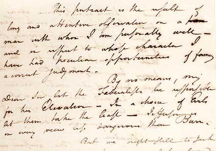 Letter to Harrison Gray Otis, December 23, 1800 (Gilder Lehrman Collection)
