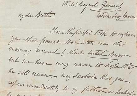 Angelica Schuyler Church to Philip Schuyler, July 11, 1804 (Gilder Lehrman Colle