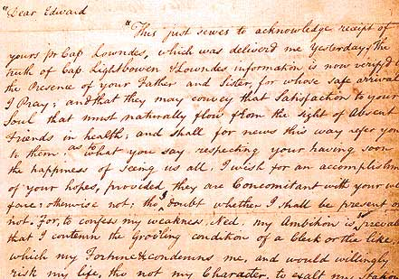 Letter from Hamilton to Edward Stevens, 1769 (Library of Congress, Prints and Ph