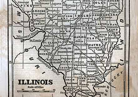 Lincoln's Unprecedented Endorsement  (Illinois Map Courtesy of Dickenson College