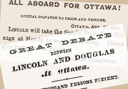 First Debate:  Ottawa August 21, 1858  (ProQuest Historical Newspapers, with spe