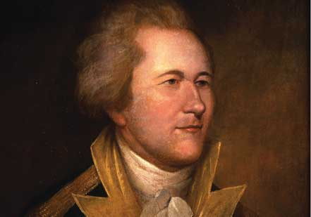 Portrait of Hamilton in Uniform by an unidentified artist, based on a portrait b