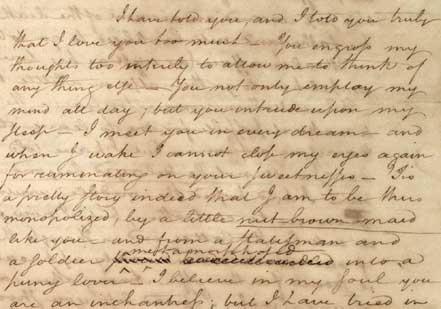 Letter from Hamilton to Elizabeth Schuyler, 1780 (Gilder Lehrman Collection)