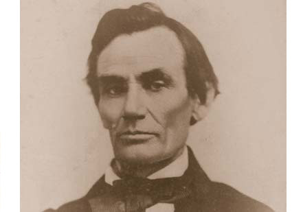 Fifth Debate:  Galesburg October 7, 1858  (Photograph of Lincoln by H. W. Fay ta