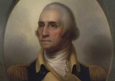 'Patriae Pater' portrait of George Washington by Rembrandt Peale, c. 1852 (Gilde