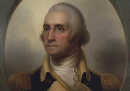 'Patriae Pater' portrait of George Washington by Rembrandt Peale, c. 1852 (Gilde
