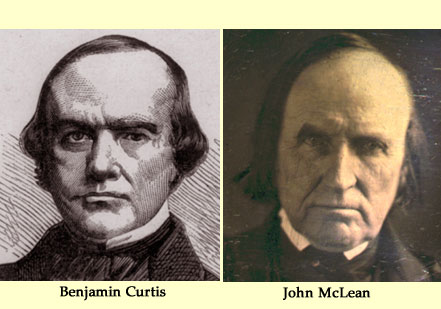 Benjamin Curtis and John McLean (Courtesy Dickinson College)