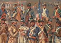 Continental Army soldiers, by Charles M. Lefferts, 1910-1920 (Anne S. K. Brown C