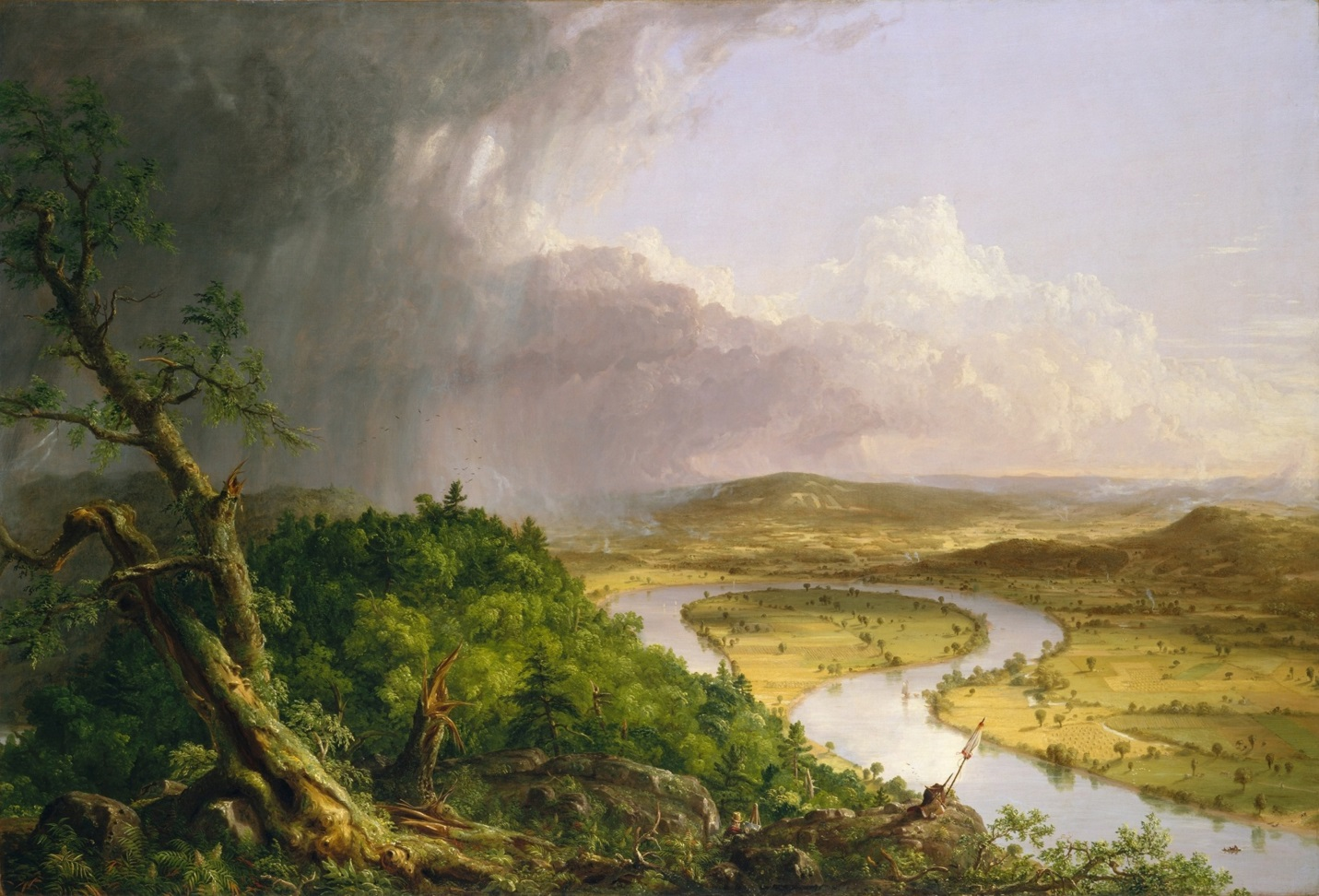 "nature s nation"" the hudson river school and american landscape view from mount holyoke northampton massachusetts after a thunderstorm the oxbow"