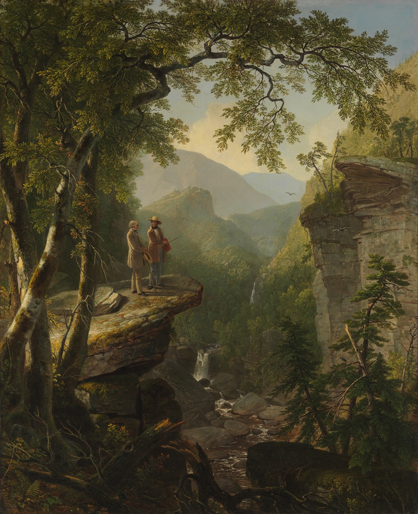 "nature s nation"" the hudson river school and american landscape kindred spirits 1849 by asher b durand 1796 1886"