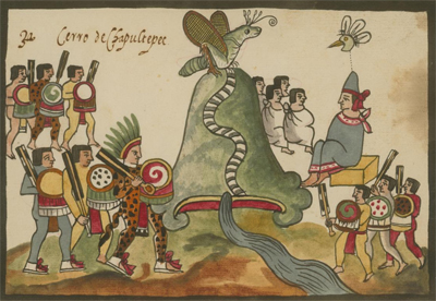The Tovar Codex, Chapultepec Hill