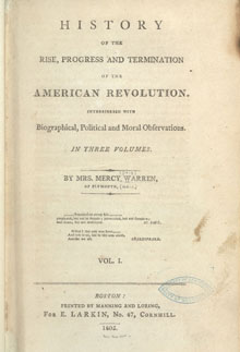 """History of the Rise, Progress and Termination of the American Revolution,"" frontispiece, c. 1805. (Library of Congress, Rare Book and Special Collections Division)"