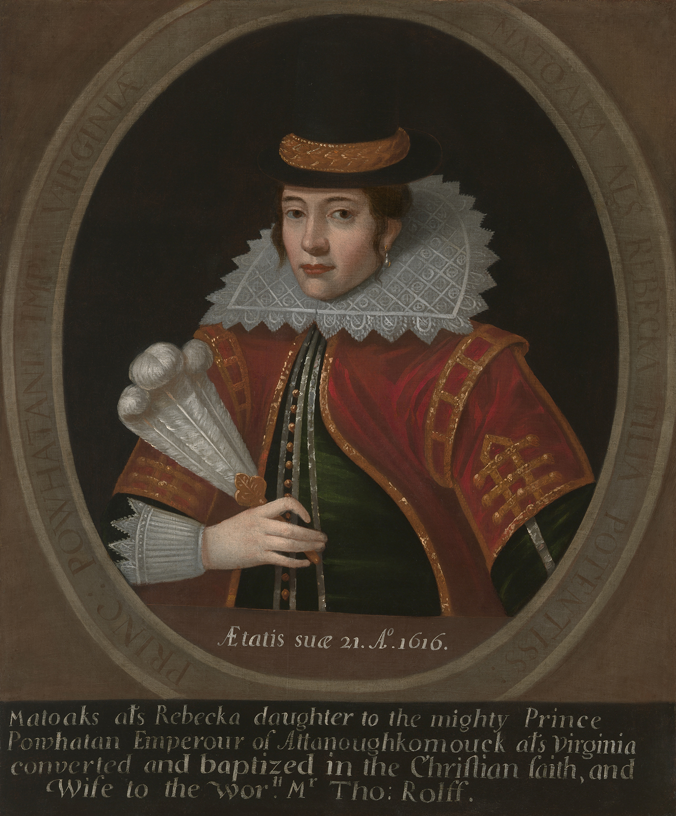 Pocahontas. Artist: Unidentified. Copy after: Simon van de Passe after 1616